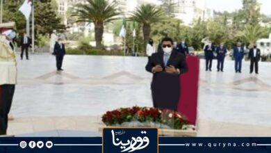Photo of المنفي يزور مقام الشهيد بالجزائر قبل لقائه مع تبون