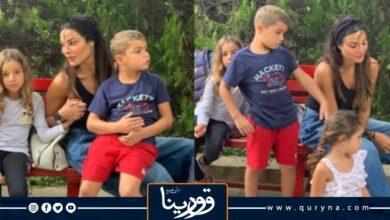 "Photo of الفنانة""نادين نجيم"" تشارك جمهورها صورا لأبنائها خلال العطلة الصيفية"