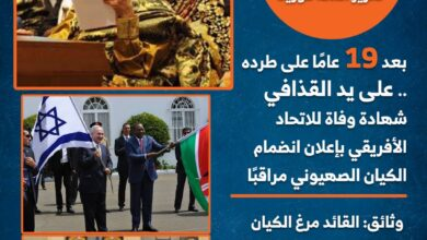 Photo of تقرير أعدته قورينا.. بعد 19 عامًا على طرده على يد القذافي.. شهادة وفاة للاتحاد الأفريقي بإعلان انضمام الكيان الصهيوني مراقبًا (تفاصيل موجعة)