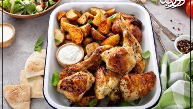 Photo of الدجاج بالزبادي في الفرن