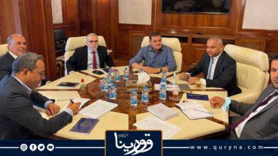"""Photo of الدبيبة يؤكد لـ """" صنع الله"""" و"""" علي محمود"""" ضرورة تطوير أداء مؤسستي النفط والاستثمار"""