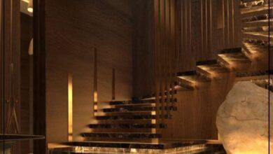"""Photo of """"قورينا"""" أختارت لكم مجموعة من التصميمات المختلفة لإضاءات مميزة لسلم منزلك الداخلي"""