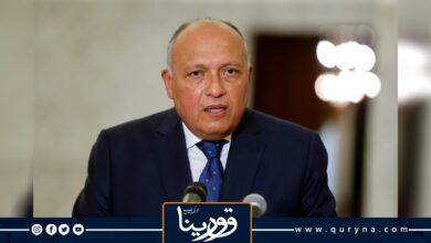 Photo of شكري يشدد على أهمية خروج القوات الأجنبية من ليبيا